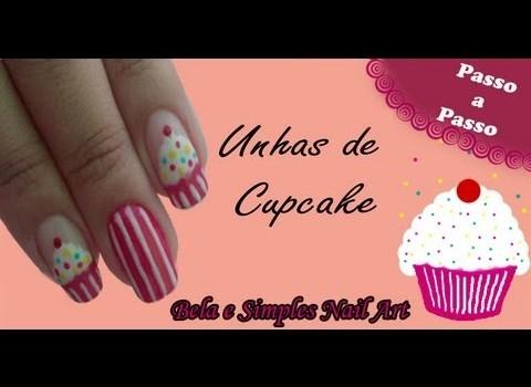 Unhas De Cupcake Manual Bela e Simples
