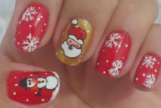 Unhas Decoradas Para o Natal Manual Bela e Simples