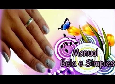 Unhas Lilás Decoradas Manual Bela e Simples Nail Art