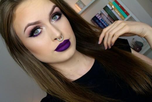 Vampy purple eyes & lips // Fall makeup tutorial