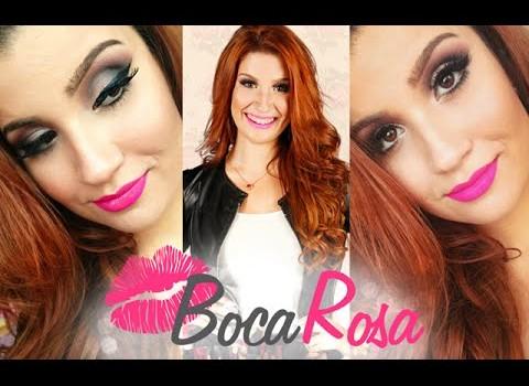 Como fazer Maquiagem com Delineado Marcado e batom Rosa