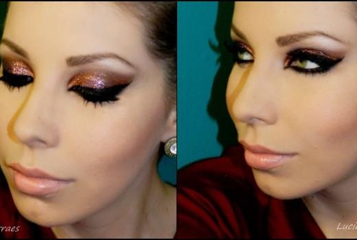 Como fazer Maquiagem Glitterinada