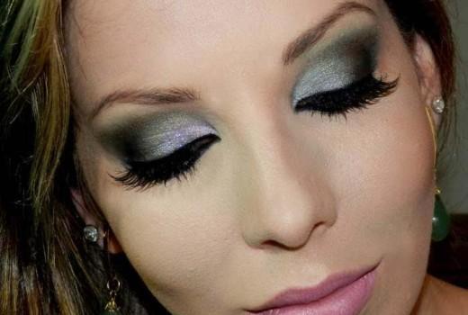 Como fazer Maquiagem para Noite com Verde e Lilás