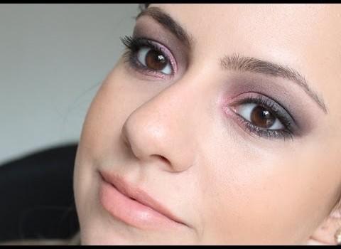 Como fazer Maquiagem Vinho Rosado com Preto