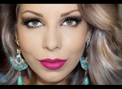 Dica de Maquiagem Clássica com Batom Pink