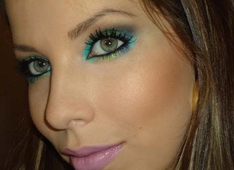 Dica de Maquiagem Colorida para Festas de Fim de Ano