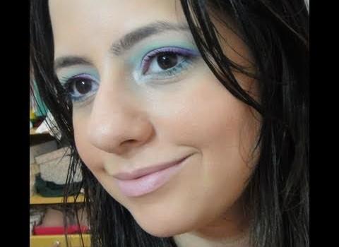 DIca de Maquiagem de Verão com Turquesa e Roxo