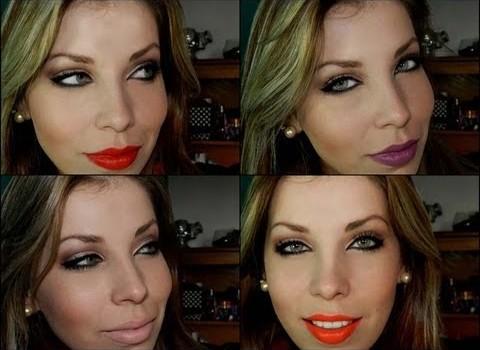 Dica de Maquiagem Neutra com Batons Coloridos
