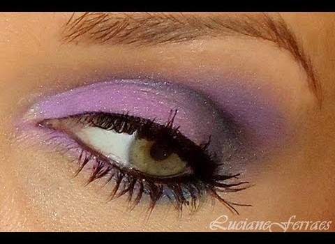 Dica de Maquiagem para o Dia com Lilás com Azul