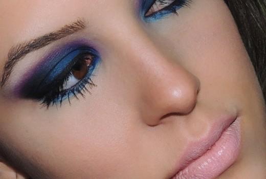 Makeup Azul e roxinha!