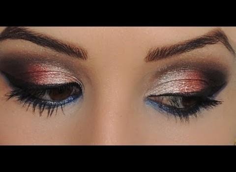 Makeup com sombras 3D