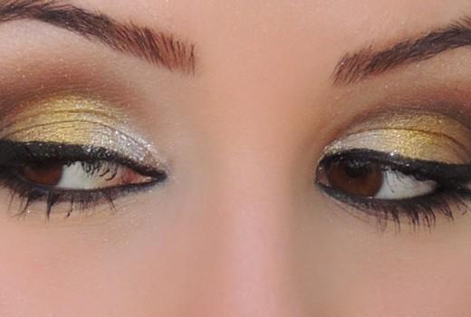 Makeup Dourada e marrom