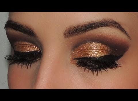 Makeup Dourada Glamour!