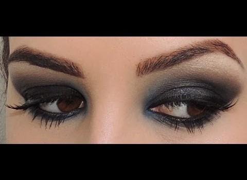 Makeup dramática: Preto Esfumado.