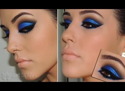 """Maquiagem Azul """"Bapho"""" para festas"""