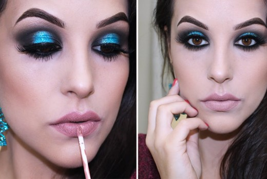 Maquiagem Azul Estrela da Festa