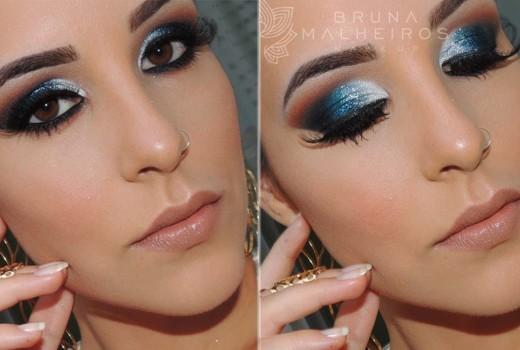Maquiagem Azul Petróleo para Festas