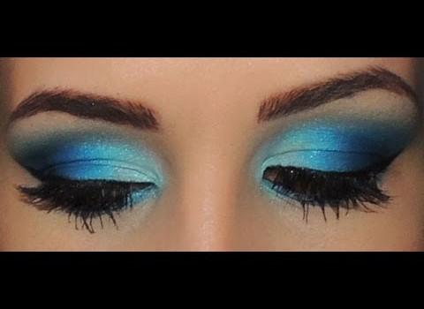 Maquiagem Azul Vibrante!