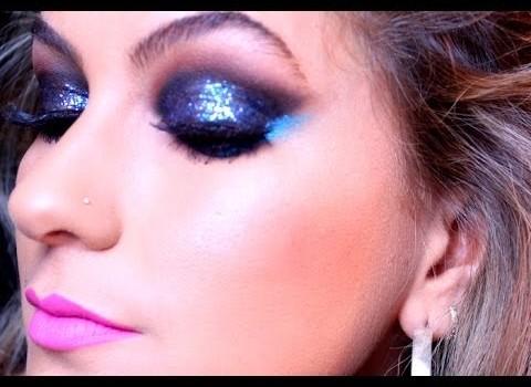 Maquiagem com muito brilho para a balada por Alice Salazar