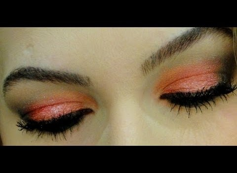 Maquiagem com sombra coral por Alice Salazar