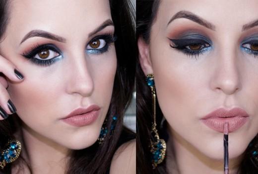 Maquiagem Fácil Festa: Verde e Laranja