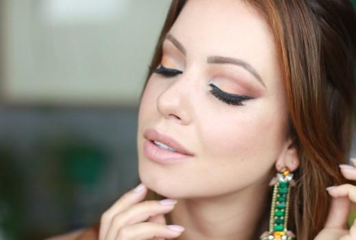 Maquiagem para Noite | Tons Quentes por Juliana Goes