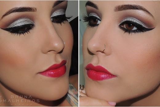 Maquiagem Réveillon 2014: Olho tudo e Boca tudo