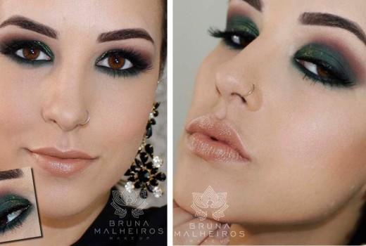 Maquiagem: Smokey Eyes Verde Escuro