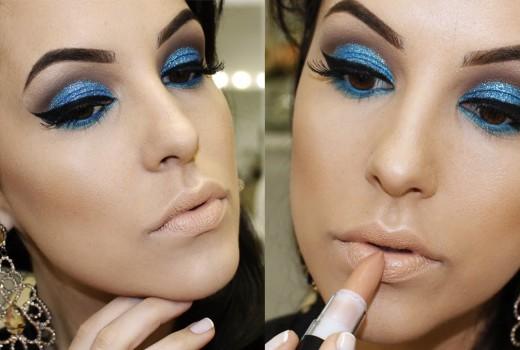 Maquiagem Turquesa Glitterinada