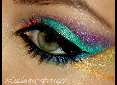 Passo a Passo para Maquiagem Colorida para Carnaval