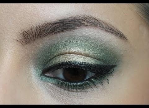Passo a Passo para Maquiagem Verde e Dourado