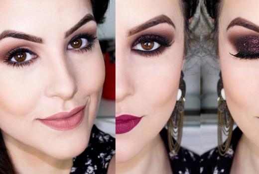 Transformando maquiagem do DIA para a NOITE – Olho tudo boca tudo!