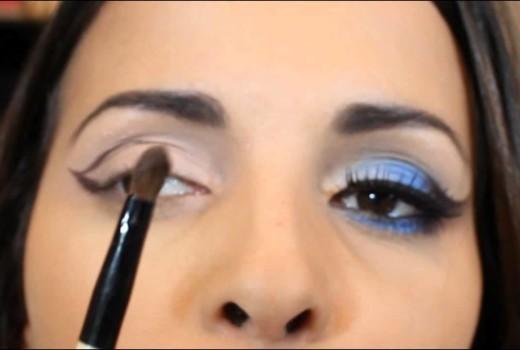 Tutorial de Maquiagem Azul e Marrom