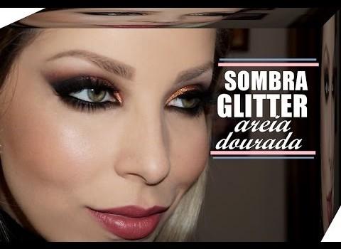 Tutorial de Maquiagem Cobre com Glitter