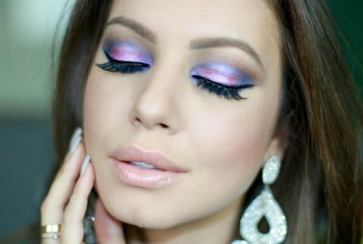 Tutorial de Maquiagem Colorida | Rosa e Azul por Juliana Goes