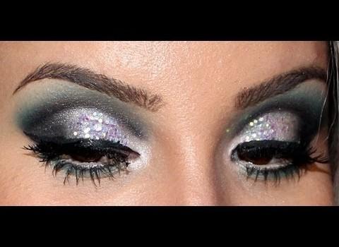 Tutorial de Maquiagem Esfumada Cut Crease com Glitters em Paetês