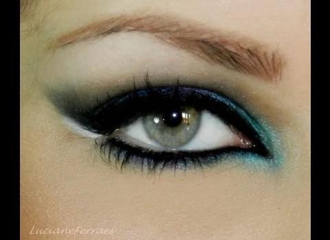 Tutorial de Maquiagem para Noite usando Azul e Violeta