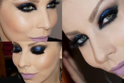 Tutorial de Maquiagem Super Noite com Sombra Azul