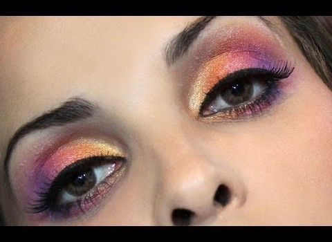 Tutorial para Maquiagem Color Block Tropical