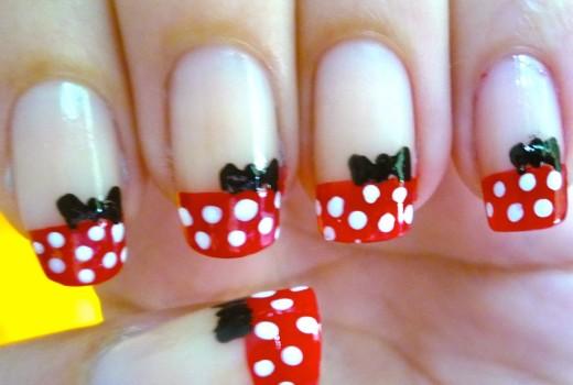 Unhas da Minnie Mouse – Nail Art