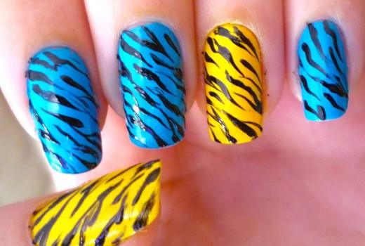 Unhas de Zebra – Zebra Nail art