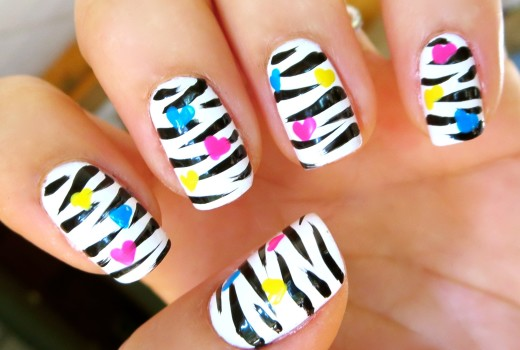 Unhas Decoradas de Zebra – Nail Art