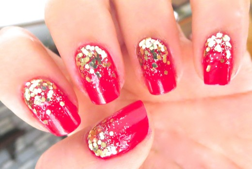 Unhas Decoradas Golden Red – Nail Art