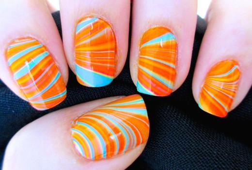 Unhas Decoradas Marmorizadas Passo-a-Passo! Facil 5 Dedos de Uma Vez! Marble Nails!