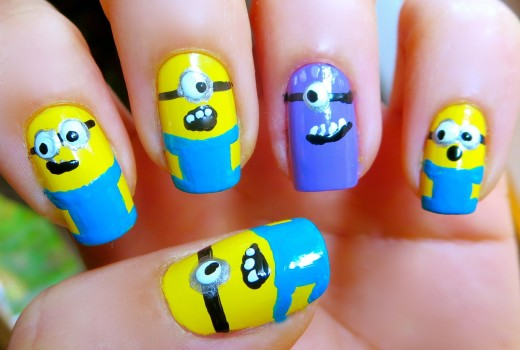 Unhas Decoradas – Minions – Nail Art