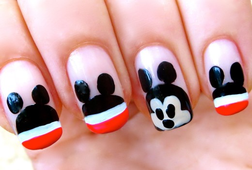 Unhas do Mickey Mouse – Nail Art