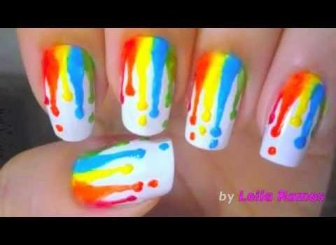 Unhas Efeito Tintas  Escorridas – Nail Art