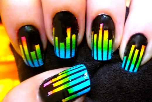 Unhas Equalizador de Musica – Nail Art