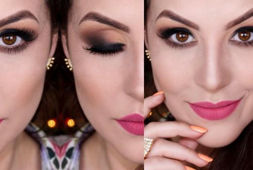 Maquiagem Versátil: Esfumado Neutro Opaco para o Natal