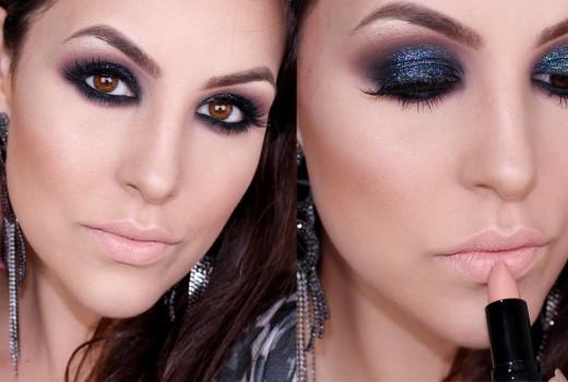 Maquiagem: Esfumado Preto com Glitter